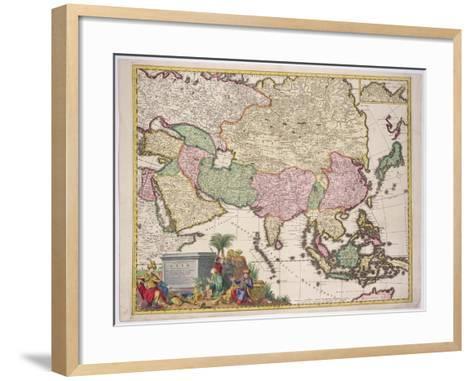 Map of Asia, Tartaria, Japan, the Philippines and East Indies, Engraved G. Van Gouwen, c.1690-Karel Allard-Framed Art Print