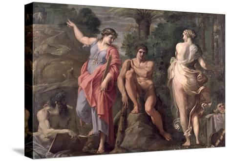 Hercules at the Crossroads, c.1596-Annibale Carracci-Stretched Canvas Print