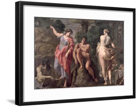 Hercules at the Crossroads, c.1596-Annibale Carracci-Framed Art Print