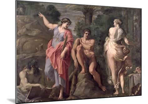 Hercules at the Crossroads, c.1596-Annibale Carracci-Mounted Giclee Print
