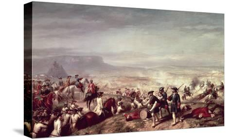 Battle of Almansa Between the Troops of Philip V-Ricardo Balaca Y Canseco-Stretched Canvas Print