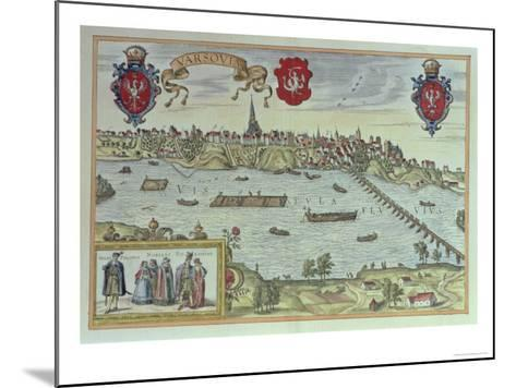 View of the City of Warsaw Beside the River Vistula, from 'Old European City Scenes--Mounted Giclee Print
