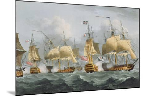Lord Howe in the Queen Charlotte, 1794, Engraved Sutherland, Jenkins's 'Naval Achievements', 1816-Thomas Whitcombe-Mounted Giclee Print