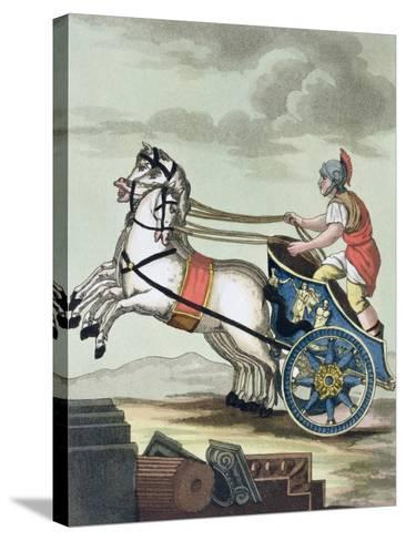 Charioteer, from L'Antica Roma, 1825--Stretched Canvas Print