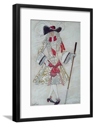 Costume Design For Prince Charming at Court, from Sleeping Beauty, 1921-Leon Bakst-Framed Art Print