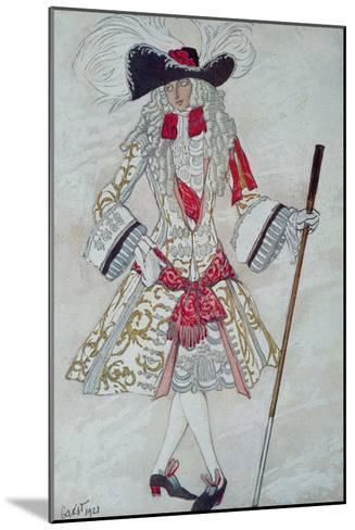 Costume Design For Prince Charming at Court, from Sleeping Beauty, 1921-Leon Bakst-Mounted Giclee Print