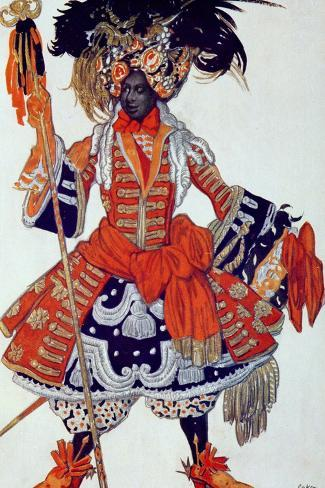 Costume Design For the Queen's Guard, from Sleeping Beauty, 1921-Leon Bakst-Stretched Canvas Print