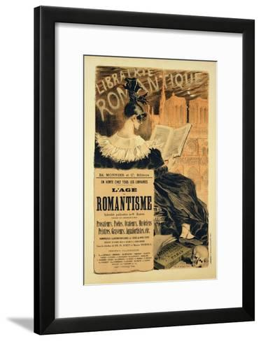 Reproduction of a Poster Advertising a Book Entitled The Romantic Age, 1887-Eugene Grasset-Framed Art Print