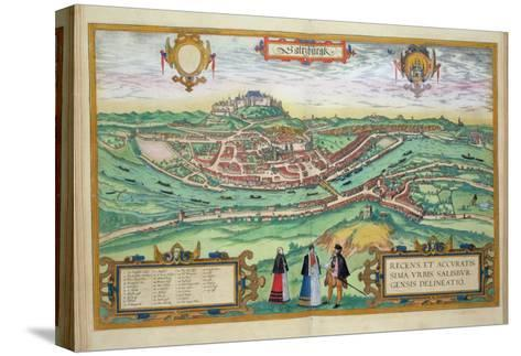 Map of Salzburg, from Civitates Orbis Terrarum by Georg Braun-Joris Hoefnagel-Stretched Canvas Print
