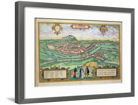 Map of Salzburg, from Civitates Orbis Terrarum by Georg Braun-Joris Hoefnagel-Framed Art Print