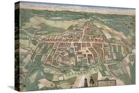 Map of Odense, from Civitates Orbis Terrarum by Georg Braun-Joris Hoefnagel-Stretched Canvas Print