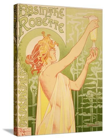 Reproduction of a Poster Advertising 'Robette Absinthe', 1896-Privat Livemont-Stretched Canvas Print