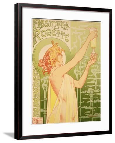 Reproduction of a Poster Advertising 'Robette Absinthe', 1896-Privat Livemont-Framed Art Print