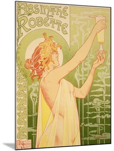 Reproduction of a Poster Advertising 'Robette Absinthe', 1896-Privat Livemont-Mounted Giclee Print