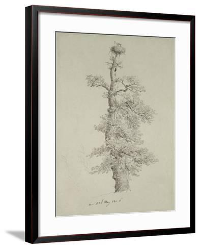 Ancient Oak Tree with a Stork's Nest, 23rd May 1806-Caspar David Friedrich-Framed Art Print