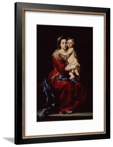 The Virgin of the Rosary, c.1650-Bartolome Esteban Murillo-Framed Art Print