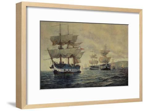 Embarkation of the Liberating Expedition of Peru, 1820, under Captain General Jose de San Martin-Antonio A. Abel-Framed Art Print