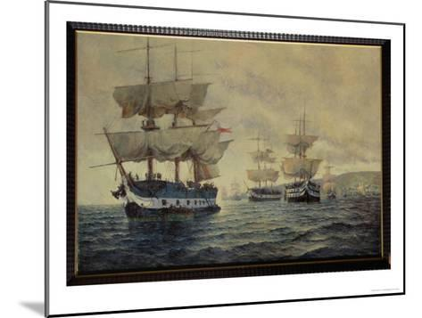 Embarkation of the Liberating Expedition of Peru, 1820, under Captain General Jose de San Martin-Antonio A. Abel-Mounted Giclee Print