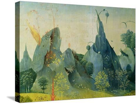 The Garden of Eden, Detail from the Right Panel of the Garden of Earthly Delights, c.1500-Hieronymus Bosch-Stretched Canvas Print