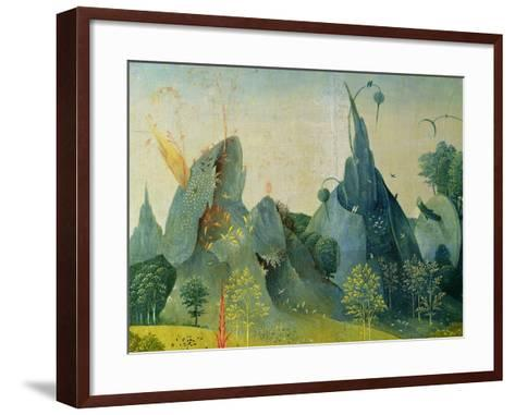 The Garden of Eden, Detail from the Right Panel of the Garden of Earthly Delights, c.1500-Hieronymus Bosch-Framed Art Print