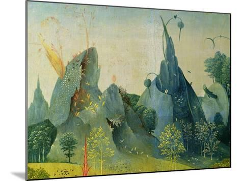 The Garden of Eden, Detail from the Right Panel of the Garden of Earthly Delights, c.1500-Hieronymus Bosch-Mounted Giclee Print