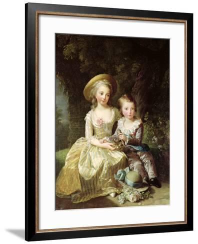 Child Portraits of Marie-Therese-Charlotte of France-Elisabeth Louise Vigee-LeBrun-Framed Art Print