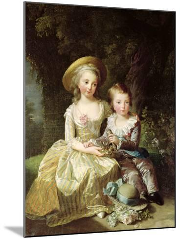 Child Portraits of Marie-Therese-Charlotte of France-Elisabeth Louise Vigee-LeBrun-Mounted Giclee Print