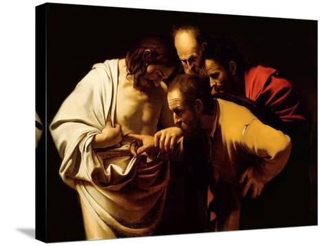 The Incredulity of St. Thomas, 1602-03-Caravaggio-Stretched Canvas Print