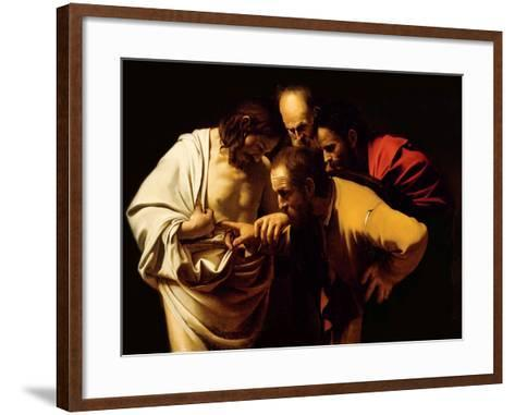 The Incredulity of St. Thomas, 1602-03-Caravaggio-Framed Art Print