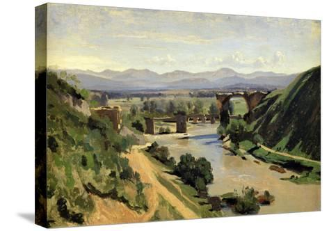 Narni, the Bridge of Augustus over the Nera-Jean-Baptiste-Camille Corot-Stretched Canvas Print