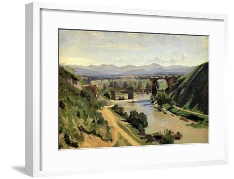Narni, the Bridge of Augustus over the Nera-Jean-Baptiste-Camille Corot-Framed Art Print