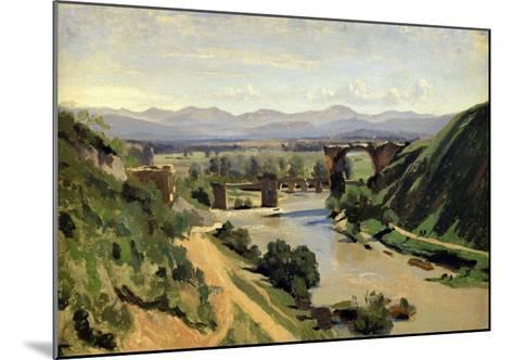 Narni, the Bridge of Augustus over the Nera-Jean-Baptiste-Camille Corot-Mounted Giclee Print