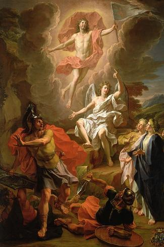The Resurrection of Christ, 1700-Noel Coypel-Stretched Canvas Print