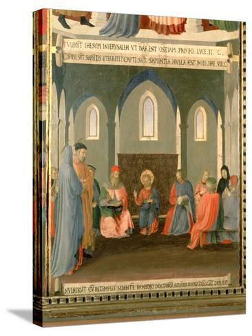 Christ Among the Doctors, Panel One of the Silver Treasury of Santissima Annunziata, c.1450-53-Fra Angelico-Stretched Canvas Print