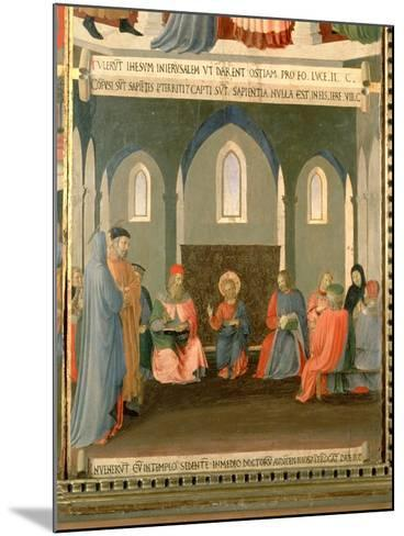 Christ Among the Doctors, Panel One of the Silver Treasury of Santissima Annunziata, c.1450-53-Fra Angelico-Mounted Giclee Print