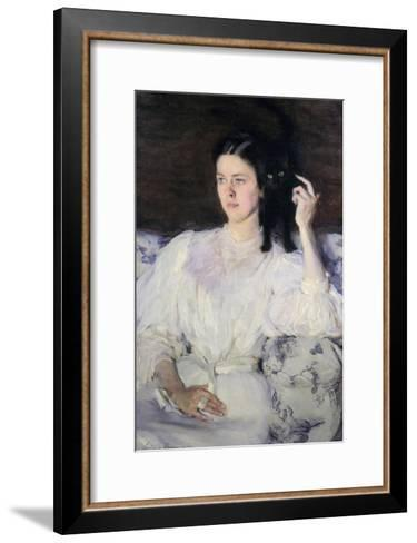 Sita and Sarita, or Young Girl with a Cat, 1893-94-Cecilia Beaux-Framed Art Print