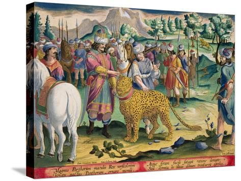 Great King of the Parthians Hunts, Plate 9 Venationes Ferarum, Avium, Piscium-Jan van der Straet-Stretched Canvas Print