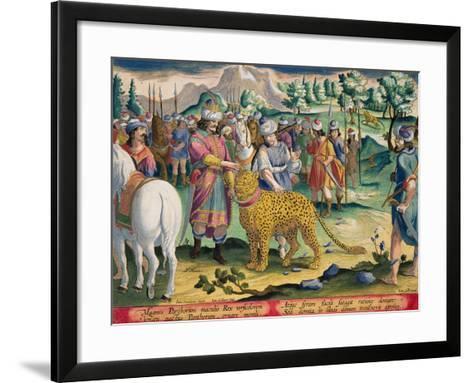 Great King of the Parthians Hunts, Plate 9 Venationes Ferarum, Avium, Piscium-Jan van der Straet-Framed Art Print