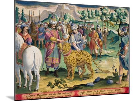 Great King of the Parthians Hunts, Plate 9 Venationes Ferarum, Avium, Piscium-Jan van der Straet-Mounted Giclee Print