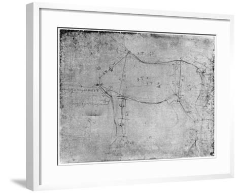 Study of a Horse-Leonardo da Vinci-Framed Art Print
