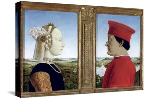 Portraits of Duke Federico Da Montefeltro-Piero della Francesca-Stretched Canvas Print