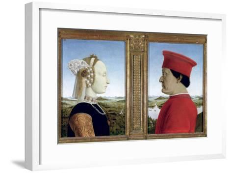 Portraits of Duke Federico Da Montefeltro-Piero della Francesca-Framed Art Print