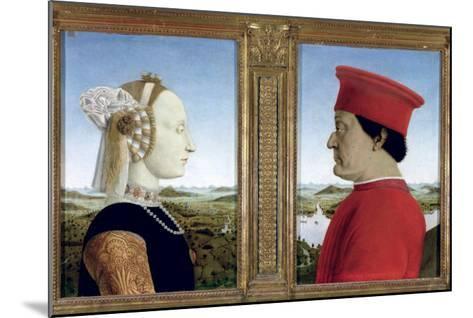 Portraits of Duke Federico Da Montefeltro-Piero della Francesca-Mounted Giclee Print