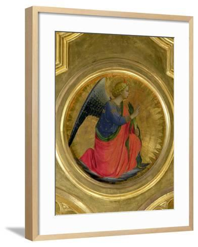The Angel of the Annunciation, Altarpiece, Church of San Domenico in Perugia-Fra Angelico-Framed Art Print