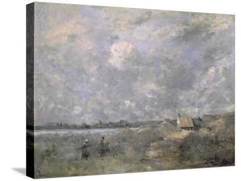 Stormy Weather, Pas de Calais, c.1870-Jean-Baptiste-Camille Corot-Stretched Canvas Print
