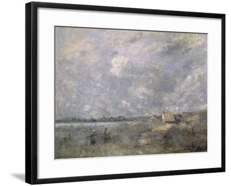 Stormy Weather, Pas de Calais, c.1870-Jean-Baptiste-Camille Corot-Framed Art Print