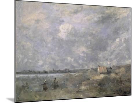 Stormy Weather, Pas de Calais, c.1870-Jean-Baptiste-Camille Corot-Mounted Giclee Print