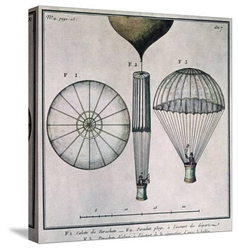 The First Parachute Descent by Andre-Jacques Garnerin--Stretched Canvas Print