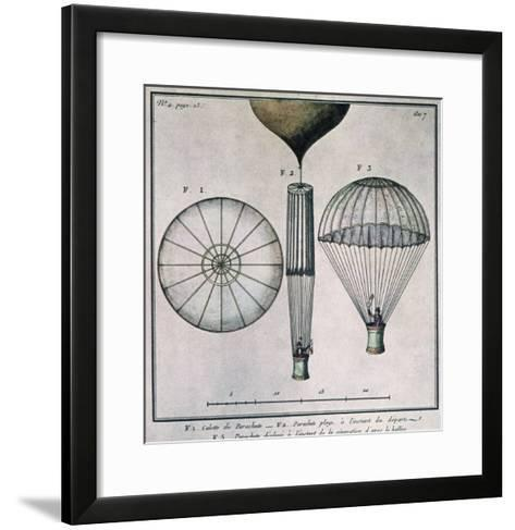 The First Parachute Descent by Andre-Jacques Garnerin--Framed Art Print