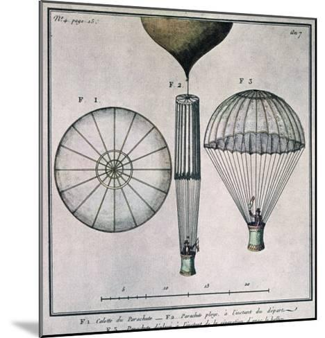 The First Parachute Descent by Andre-Jacques Garnerin--Mounted Giclee Print